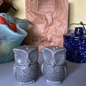 NWOT--Owl Salt & Pepper Shaker Set
